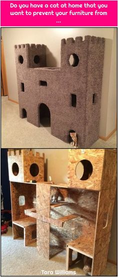 Take a look at these lovely castles pet owners have DIY-ed for their cats, and b. - Take a look at these lovely castles pet owners have DIY-ed for their cats, and be inspired to make - Animal Projects, Diy Projects, Cat Castle, Cat House Diy, Cat Towers, Cat Enclosure, Cat Room, Cat Condo, Cat Tree