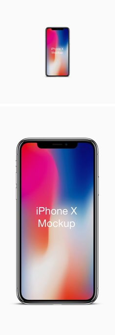 Friends, here's a quick front view mockup of the most -awaited and most-talked about smartphone from Apple: iPhone X. The PSD file contains smart-...