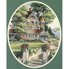 Embroidered set Cross Stitch Kits Classic Design 4351 Victorian House