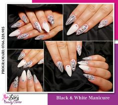 black and white nails http://www.larybeautycenter.ro/