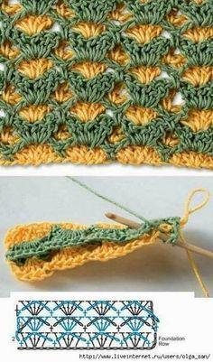 Su Crochet: puntos combinados...♥ Deniz ♥.