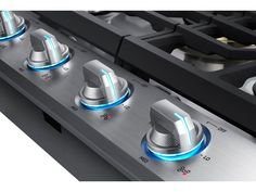 Samsung 5 Burners Stainless Steel Gas Cooktop (Common: Actual: at Lowe's. The Samsung gas cooktop offers a full range of burners for all of your cooking needs. The Samsung gas cooktop offers powerful cooking with a BTU power Samsung, Appliance Reviews, Blue Led Lights, Fan Lights, Stainless Steel Types, Built In Ovens, Cool Things To Buy, Home Appliances, Tops