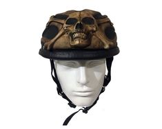 Christmas Gift Sale Motorcycle Half skull Helmet Chopper Skull Death  Fire