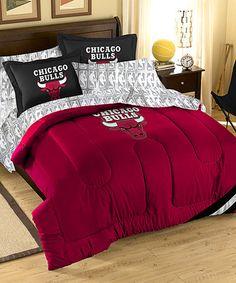 Loving this Chicago Bulls Bedding Set on #zulily! #zulilyfinds