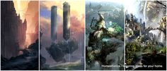 concept fantasy medieval castle castles cities paintings homesthetics inspire buildings dark forest