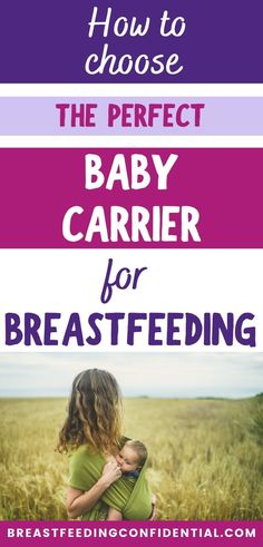 Baby carriers for breastfeeding is one of the best tips for new moms. How to use a baby carrier safely. Which is the best baby carrier for breastfeeding moms? A mom of three helps you decide if a wrap or ergo is better. Breastfeeding Quotes, Breastfeeding In Public, Breastfeeding Problems, Breastfeeding Support, Best Baby Carrier, Baby Wrap Carrier, Breastfeeding Accessories, Lactation Consultant, Baby Carriers