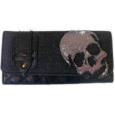 Loungefly Sequin Skull Wallet | Gothic Clothing | Emo clothing | Alternative clothing | Punk clothing - Chaotic Clothing ($38) found on Polyvore