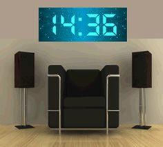 cool-best-new-latest-coolest-funny-top-high-technology-electronic-gadgets-big time digital wall clock
