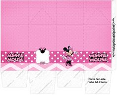 Pretty Minnie in Pink: Free Printable Boxes. Girl Birthday Themes, Kids Party Themes, Birthday Party Decorations, Printable Box, Free Printables, Box Invitations, Mickey Party, Pillow Box, Pink Parties