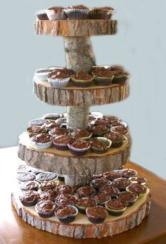 Diy rustic cupcake stand rustic cupcake stands rustic cupcakes do it yourself cup cake stand solutioingenieria Images