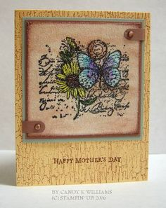 Garden Collage Birthday by stampncowgirl - Cards and Paper Crafts at Splitcoaststampers Butterfly Birthday Cards, Butterfly Cards, Flower Cards, Stamping Up Cards, Rubber Stamping, Napkin Cards, Get Well Cards, Dragonflies, Homemade Cards