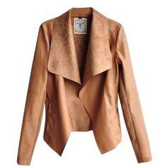 Hee Gran PU de las señoras chaqueta de cuero chaqueta de cuero chaqueta de motociclista faux transición: Amazon.de: Ropa
