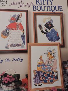 Aunt Haty's Kitty Boutique 7 Cat Characters Cross Stitch Design Charts American School of Needlework Designs Collection Chart Book No 3647 Cross Stitch Charts, Cross Stitch Designs, Cat Character, Raggedy Ann And Andy, Sewing Patterns For Kids, Vintage Sewing, Aunt, Needlework, Kitty