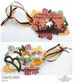 That means it's time for a new La-La Land Crafts project! This time I've made a tag. Craft Projects, Autumn, Tags, Halloween, How To Make, Crafts, Inspiration, Design, La La Land