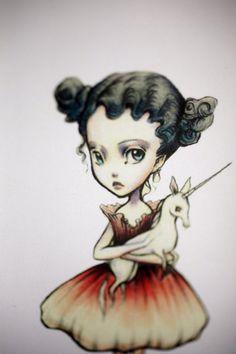 Genevieve Believes  Unicorn Love  3 blank notecards by mabgraves, $7.00
