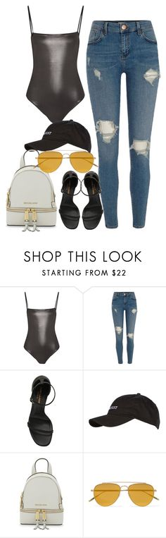 """""""Untitled #4248"""" by dkfashion-658 on Polyvore featuring Fleur du Mal, River Island, Yves Saint Laurent, Topshop, MICHAEL Michael Kors and Tomas Maier"""