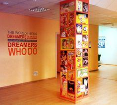 Decor wall for Galina's Blanca office