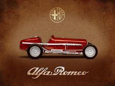 Alfa Romeo Tipo B 1932 Print By Mark Rogan