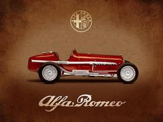 Alfa Romeo Tipo B 1932 Print By Mark Rogan