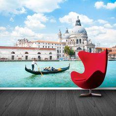 Fotobehang Venetië   Maak het jezelf eenvoudig en bestel fotobehang voorzien van een lijmlaag bij YouPri om zo gemakkelijk jouw woonruimte een nieuwe stijl te geven. Voor het behangen heb je alleen water nodig!   #behang #fotobehang #print #opdruk #afbeelding #diy #behangen #venetie #italie #italiaans #vakantie #reis