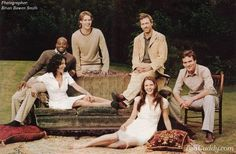 early cast of House, M.D, clockwise from far right: Robert Sean Leonard, Jennifer Morrison, Lisa Edelstein, Omar Epps, Jesse Spencer, and the grand master, Hugh Laurie.