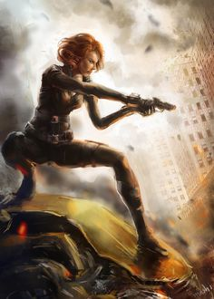 Black Widow Avengers Artwork