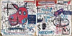 Jean-Michel Basquiat Man from Naples, 1982 Acrylic and collage on wood 122 x cm Guggenheim Bilbao Museoa Jean Michel Basquiat, Jm Basquiat, Jackson Pollock, Tachisme, Jasper Johns, Cindy Sherman, Franz Kline, Keith Haring, Jeff Koons