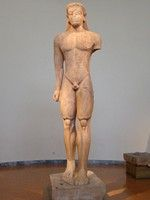 Greek Sculpture: Sounion Kouros (c.600) National Archeological Museum of Athens