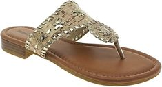 Amazon.com | Pierre Dumas Women's Rosetta Slip-on Sandals (New Tan, 9) | Flats