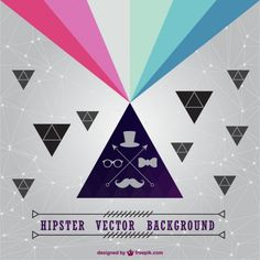 Hipster vector background Free Vector