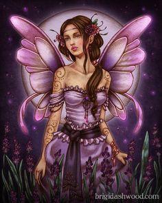 Lavender Moon Fairy by Brigid Ashwood