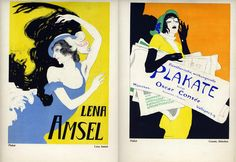 Lena Amsel/Consee, Munchen (double-sided), 1922 by Walter Schnackenberg Art Deco Posters, Vintage Posters, 1920s Art Deco, Poster Ads, Pre And Post, Toulouse, Wwi, Dance Costumes, Illustrations Posters