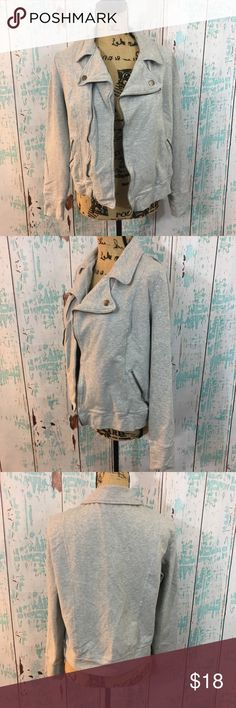 """NY&Co casual cotton Moto jacket large NY&Co casual cotton Moto jacket large  🌵Bundle deals available. I carry various sizes/brands. 🌵No trades, holds, or modeling. 🌵All reasonable offers accepted only through """"offer"""" button. No lowball offers please. Please submit final offer willing to pay as I prefer to not counteroffer. 🌵Happy Poshing! New York & Company Jackets & Coats Utility Jackets"""