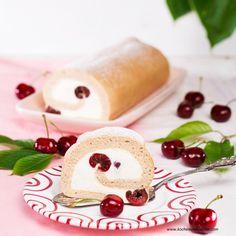 Zimtroulade mit Kirschen » Kochrezepte von Kochen & Küche Panna Cotta, Pudding, Cheese, Mona, Cake, Ethnic Recipes, Desserts, Kuchen, Cinnamon