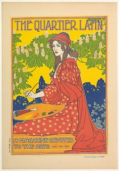 Louis John Rhead (American, born England, 1857–1926). THE QUARTIER LATIN / A MAGAZINE DEVOTED / TO THE ARTS– – –, ca. 1898–99. The Metropolitan Museum of Art, New York. Purchase, The Lauder Foundation, Leonard and Evelyn Lauder Fund Gift,1985 (1985.1051.2)