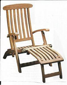 Reclining wooden chair