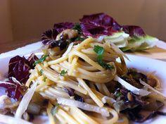 Porcini mushrooms & chicory spaghetti