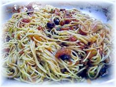 Angel Hair Pasta With Puttanesca Sauce