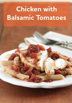 This Chicken with Balsamic Tomatoes recipe is incredibly tasty and very quick and easy to make!
