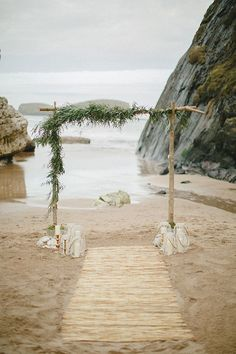 Bohemian beach wedding arch | Wedding & Party Ideas | 100 Layer Cake