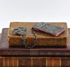 Snips and Snails and Puppy Dog Tails: Flea Market Finds Antique Show, Antique Books, Book Jewelry, Jewelry Art, Oldest Bible, Book City, Dollhouse Miniature Tutorials, Book Journal, Journals