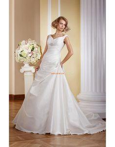 A-line Taffetas Zip Robes de mariée 2014