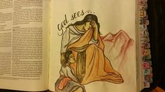 """Ivy Brog Bible Journaling by Monica on FB One of the aspects of the naming of Ishmael was Hagar's referring to God as """"the One who sees"""" after her, that is, looks out for her. In this name is a world of theology: God hears and God sees. The name provides the message: God spoke in direct revelation, and Hagar responded in faith. God sees distress and affliction, and He hears."""