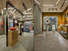 Ceramic Shoppe by a + t associates, Vadodara – India Interior Work, Retail Interior, Shop Interior Design, Retail Design, Ceramic Shop, Ceramic Design, Shop House Plans, Shop Plans, Art Nouveau