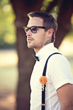 Shabby Chic Wedding grooms attire