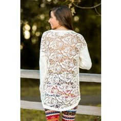 Back For More Sweater-Ivory - $44.00