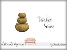 ArwenKaboom's Lina Livingroom - Wicker Boxes