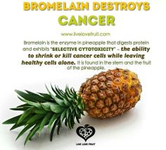 Pineapple and cancer cells