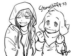 StoryShift! Chara and StoryShift! Asriel Dreemurr | Artist RyuO