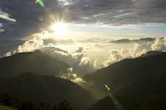 the sunset of 合歡山